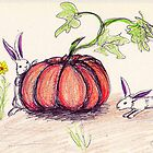 Bunnies and Pumpkins by Carrie Potter