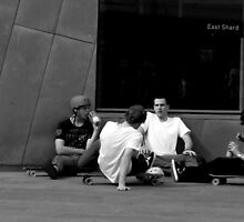 the dudes at East Shard  (our future, chillin out). by geof