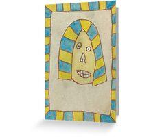 King Tut Pharaoh  Greeting Card