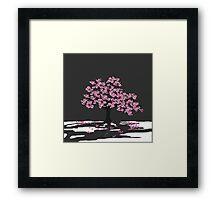 Determination - Plum Blossom Framed Print
