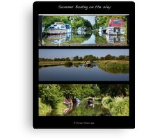 Summer Boating on the Wey Canvas Print