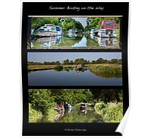 Summer Boating on the Wey Poster