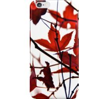 Lovely Red Leaves iPhone Case iPhone Case/Skin