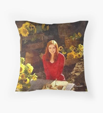 Amy Pond Doctor Who Throw Pillow