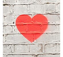 Heart on the Wall Photographic Print
