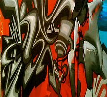 Skate Boarder- Street Art, Graffiti Style! by LJ_©BlaKbird Photography