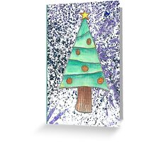 Christmas Tree scatter Greeting Card