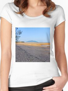 Beach at low tide Women's Fitted Scoop T-Shirt