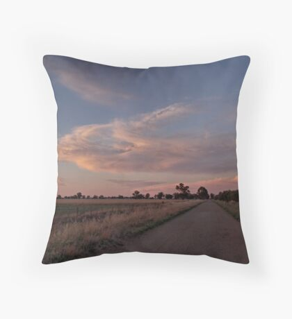 Manta Cloud Sunset Throw Pillow