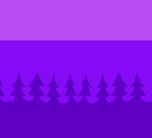 pines at twilight by HiddenStash