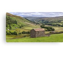 Swaledale Panorama - The Yorkshire Dales Canvas Print