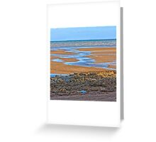 Rocks on beach at low tide Greeting Card