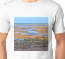 Rocks on beach at low tide Unisex T-Shirt