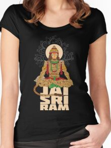 Hanuman Sankat Mochan Women's Fitted Scoop T-Shirt