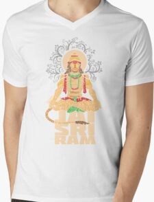 Hanuman Sankat Mochan Mens V-Neck T-Shirt