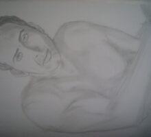 Nicolas Cage portrait drawing by Alina Mardare Rossi