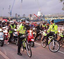 London Traffic Police Cyclists by Ian Jones