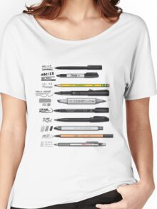 Pen Collection For Sketching And Drawing Women's Relaxed Fit T-Shirt