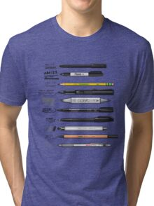 Pen Collection For Sketching And Drawing Tri-blend T-Shirt