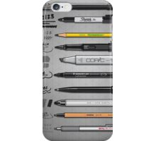 Pen Collection For Sketching And Drawing iPhone Case/Skin