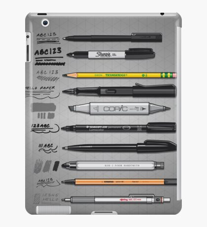 Pen Collection For Sketching And Drawing iPad Case/Skin