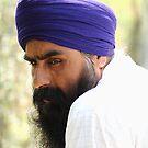 A portrait of a Sikh. by debjyotinayak