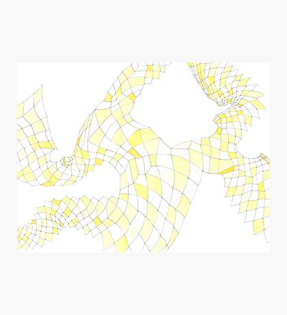 Geometric landscape yellow drawing Photographic Print