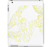 Geometric landscape yellow drawing iPad Case/Skin