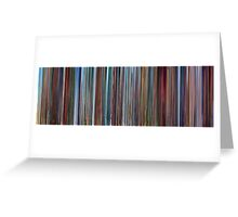 Moviebarcode: Despicable Me (2010) Greeting Card