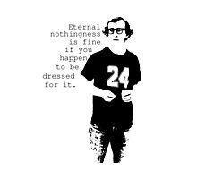 Woody Allen stencil Photographic Print
