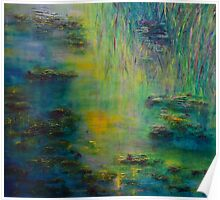 Lily Pond Tribute to Monet Poster