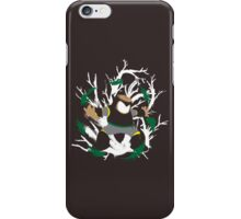 Wood Man Splattery Vector T iPhone Case/Skin