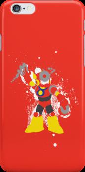 Metal Man Splattery T-Shirt by thedailyrobot
