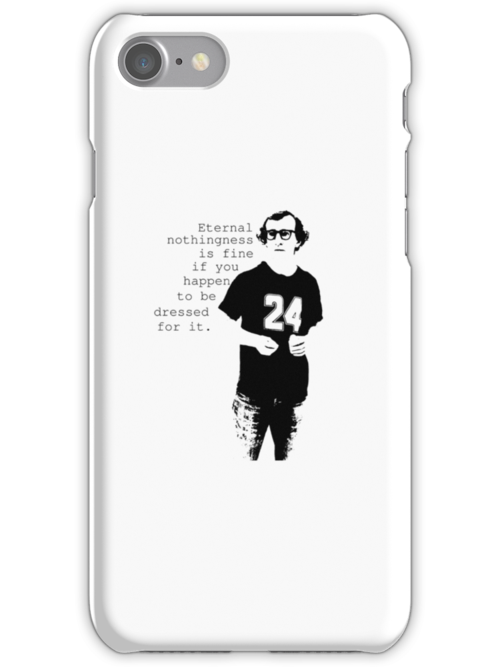 Woody Allen iPhone Cases by chiaraggamuffin