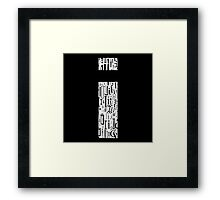 Small i, black background Framed Print