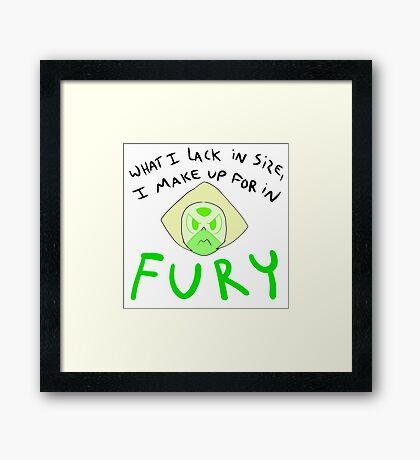 Fury - Peridot Framed Print