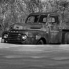 Winter Truck in Black and White by Thomas Young