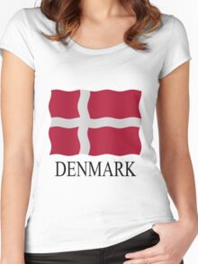Danish flag Women's Fitted Scoop T-Shirt