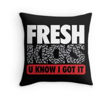 Fresh Kicks White Cement Throw Pillow