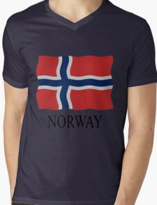 Norway flag Mens V-Neck T-Shirt