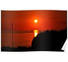 Sunset at the Gulf of Baratti Poster