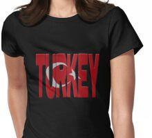 Turkish flag Womens Fitted T-Shirt
