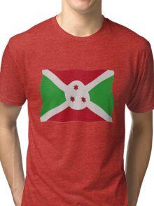Burundi flag Tri-blend T-Shirt