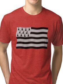 Brittany flag Tri-blend T-Shirt