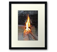 typical indian stove Framed Print