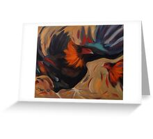 Clash - Rooster Painting Greeting Card
