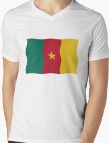 Cameroon flag Mens V-Neck T-Shirt