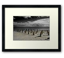 The Remains of the Pier Framed Print