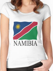 Namibian flag Women's Fitted Scoop T-Shirt