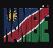 Namibia flag by stuwdamdorp
